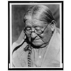 Henry,Wichita Indian Man,Glasses,c1927,Edward S Curtis