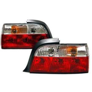 Bmw E36 3 series 92 98 2 door Crystal Cut Red/clear Tail