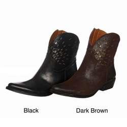 Nine West Womens Gertrude Short Western Boots