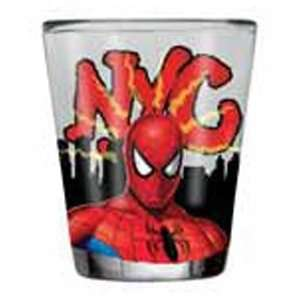 Spider Man NYC New York City 1.5 Oz. Shot Glass Kitchen & Dining