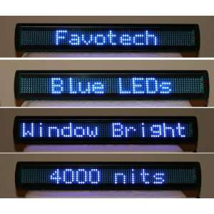 NEW 26 Blue Window LED Scrolling Sign Message Display Electronics