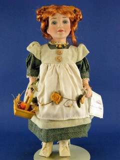Duck House Heirloom 18 Porcelain Doll Green Eyes Red Hair w Box