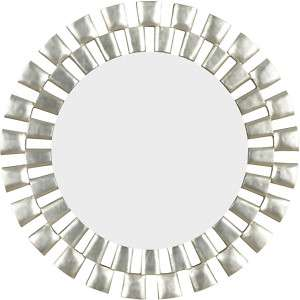 NEW ROUND MODERN SILVER SUNBURST WALL MIRROR O1
