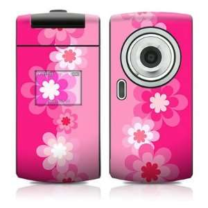 Retro Pink Flowers Design Protective Skin Decal Sticker for Samsung