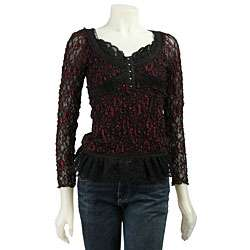 Kay Celine Womens Long sleeve Lace Top