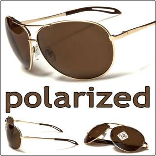 Polarized Fashion Aviator Fishing Designer Sunglasses Gold Frame Brown