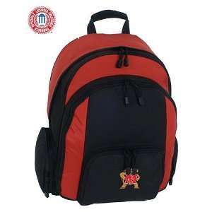 Mercury Luggage Maryland Terrapins Large Red & Black Ripstop Backpack