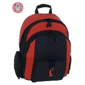 Mercury Luggage Cincinnati Bearcats Large Red & Black Ripstop Backpack