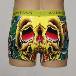 Christian Audigier Mens Cotton Skull Boxer Briefs