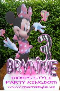 Minnie mouse Birthday Party Cake topper pkz w #