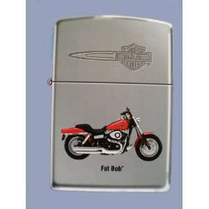 Harley Davidson Motor Cycles Fat Bob Zippo Lighter Health