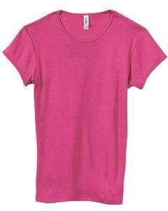 Bella Ladies 1x1 Baby Rib Crew Neck T Shirt 1001