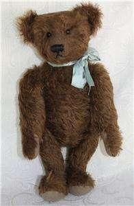 Antique~vntg LARGE 20~Steiff Teddy Bear brown mohair~Shoe button eyes