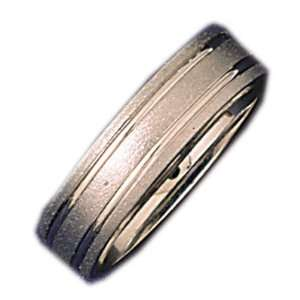 14kt White Gold 6mm Wedding Band Ring Jewelry