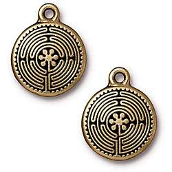 Goldplated Pewter Labyrinth Charms (Set of 2)