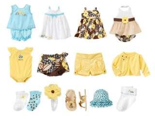 Gymboree NWT Baby Girl Island Beauty Onsie Dress Shorts Socks Hat 0 3