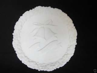 Fenton White Milk Glass 25th Anniversary Plate Love