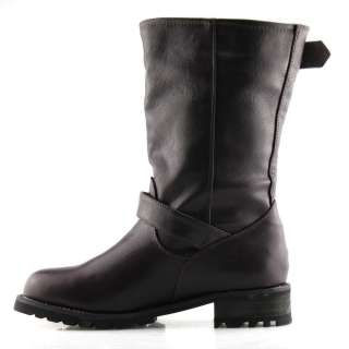 FAST SHIP SHOEZY Fashion designer ladies black brown pu leather mid