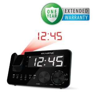 Magnasonic MAAC500 AM/FM Projection Clock Radio with WakeUp! Battery