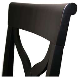 Tuscana Solid Wood Black Dining Chair (Set of 2)