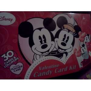 Disney Mickey & Minnie Mouse Valentine Candy Card Kit