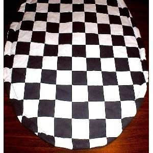 Black & White Checkered Flag Toilet Seat Lid Cover
