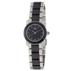 Womens Cera Stainless Steel Ceramic Quartz Watch