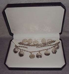 Rare Towle Sterling Silver 12 Days Christmas Complete Necklace 1971