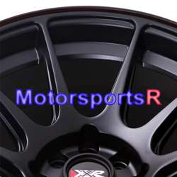 16 16x8.25 XXR 527 Black Orange Stripe Concave Rims Wheels 4 lugs