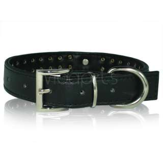 18 22 black Leather Rhinestone Dog Collar heart large