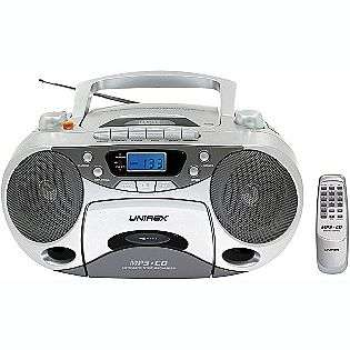 Portable Stereo CD Player with Radio Cassette Recorder (Includes