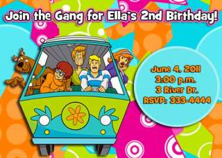 SCOOBY DOO KIDS BIRTHDAY PARTY INVITATIONS FIRST
