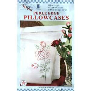 12183 NT Long Stem Rose Perle Edge Pillowcases 1600 134