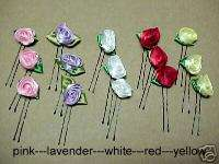 Oriental Rainbow of Flower Bud Kanzashi Hair Pins