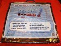 THE HOT COOL BAG KOLD TO GO FOOD GROCERY ICE CREAM LG