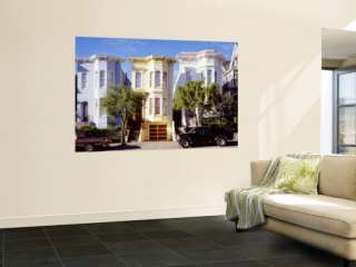 Front of Victorian Houses, San Francisco, California, USA Wall Mural