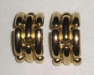 Givenchy Gold Tone Half Hoop Earrings (Clip)