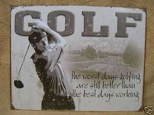 Golf Best Day Golfing Tin Metal Sign FUNNY Sport Decor