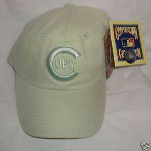 Chicago Cubs Baseball Cap Hat Light Green w CUBS logo