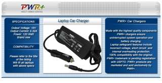 TOSHIBA 19V 6.32A 120W LAPTOP CAR CHARGER DC POWER CORD