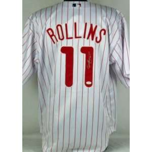 PHILLIES JIMMY ROLLINS AUTHENTIC SIGNED HOME JERSEY JSA