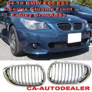 BMW 04 10 E60 E61 M5 OEM Front Chrome Kidney Grille Kit
