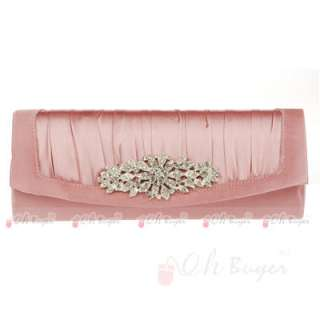 womens Wedding Evening Purse bridal Clutch bag with chain 5 colours