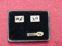 International Harvester Australia cuff links & tie bar
