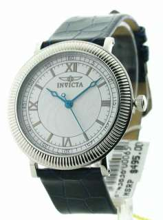 Mens Invicta Leather Swiss Ultra Slim Watch Set 0065 843836000659