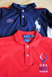 LOT of 8 RALPH LAUREN POLO Boys Big Pony Youth Logo Rugby Shirts