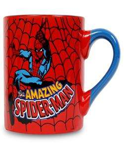 The Amazing Spider Man Spider Web 14oz Ceramic Coffee Mug Licensed New