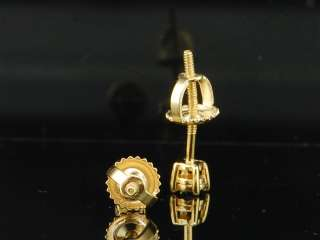 Mens / Ladies Yellow Gold Finish Fanook Set Diamond Earrings Studs 0