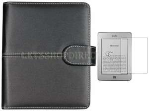 New Black Leather Case Cover Pouch Sleeve for  Kindle Touch+LCD