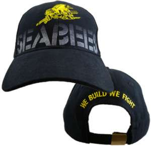 US NAVY SEABEES MILITARY EMBROIDERED BALLCAP CAP HAT